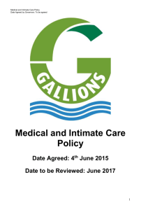 Medical and Intimate Care Policy