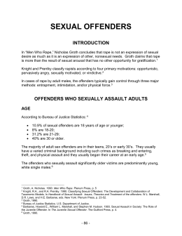 "Sex Offender chapter from ""By the Numbers"" manual"