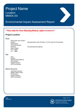 Environmental Impact Assessment Report Template