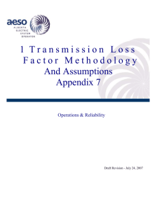 Transmission Loss Factor Methodology and Assumptions