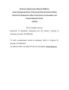 Electronic Supplementary Materials (ESM) for: Lipase