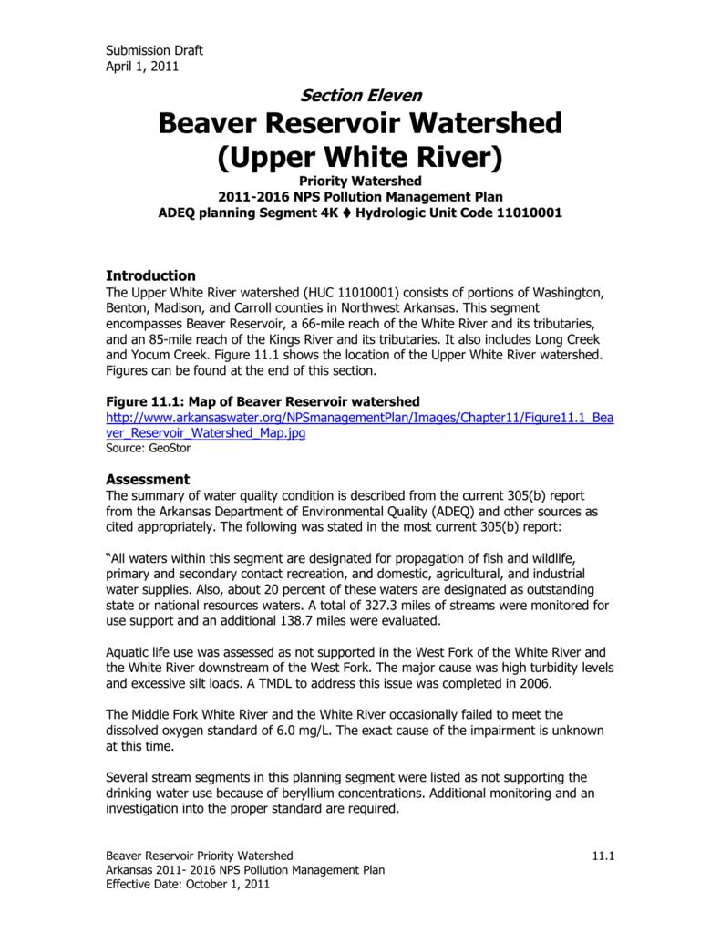 Watershed Protection Program – Beaver Lake