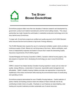 The Story Behind EnviroHome - Canadian Home Builders` Association