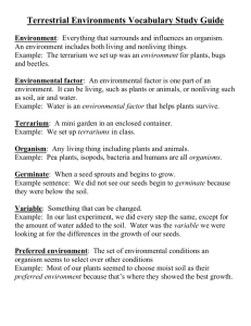 Terrestrial Environments Vocabulary Study Guide