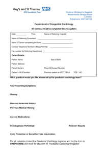 paediatric cardiology referral form