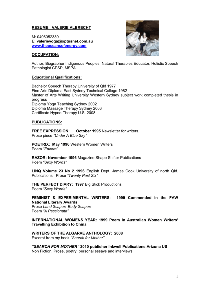 Resume Writing Publications