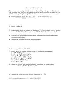 Final Exam Review Questions