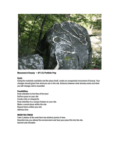 Monument of beauty on the land/Goldsworthy - Stjohns