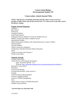 Conservation titles