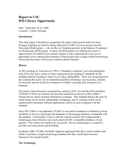 Report to CSC IFD Library Opportunity Date: September 25