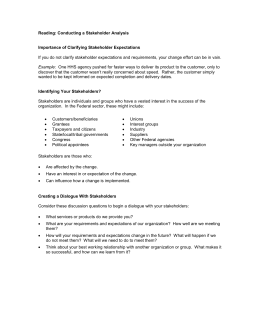 Reading: Conducting a Stakeholder Analysis