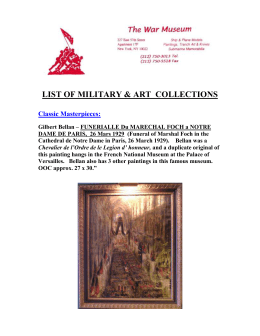LIST OF MILITARY & ART Collections