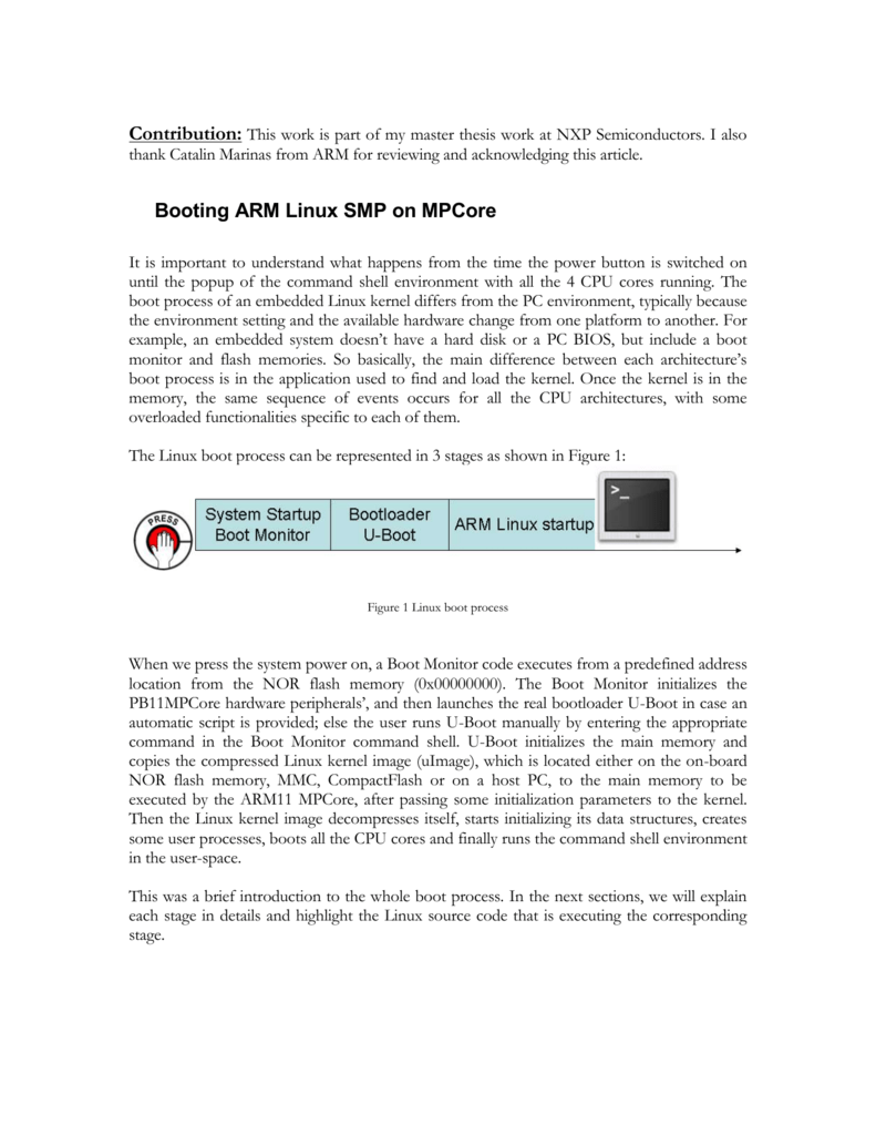 Booting ARM Linux SMP on MPCore