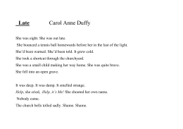Late Carol Anne Duffy