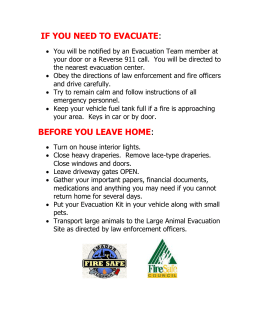 IF YOU NEED TO EVACUATE: - Amador Fire Safe Council