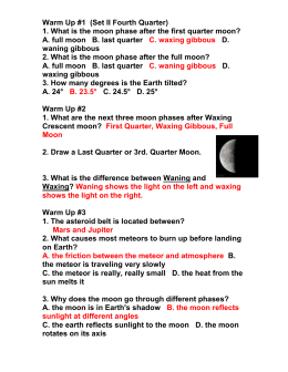 7th Grade Science - 1st Semester Final Review ANSWER KEY 1