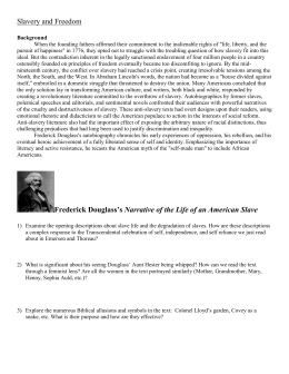 Frederick Douglass`s Narrative of the Life of an