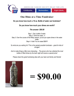 One Dime at a Time Fundraiser