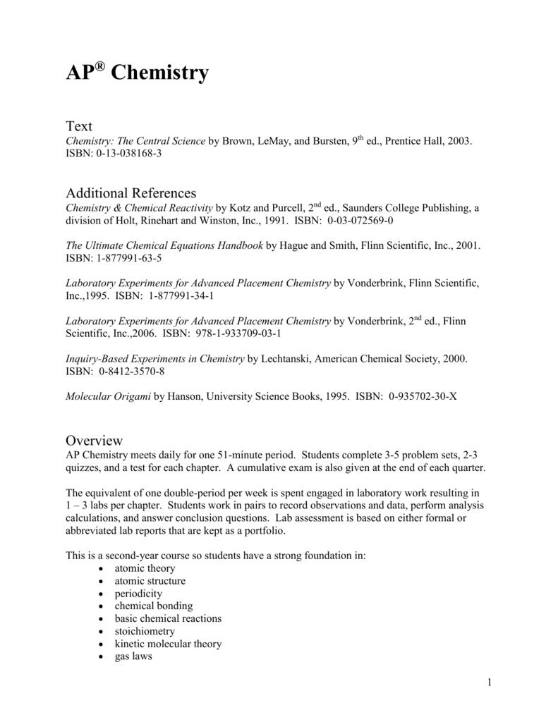 ap chemistry syllabus 2018-2019