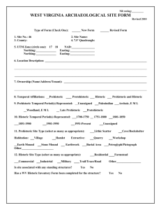 Archaeological Site Form - West Virginia Division of Culture and