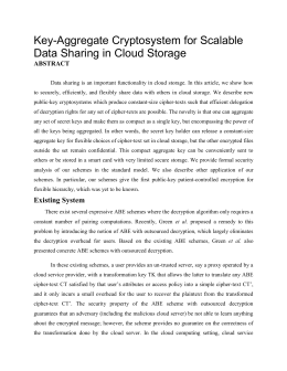 Key aggregate cryptosystem for scalable data krest technology ccuart Images