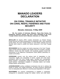 MANADO LEADERS DECLARATION - Coral Triangle Initiative on