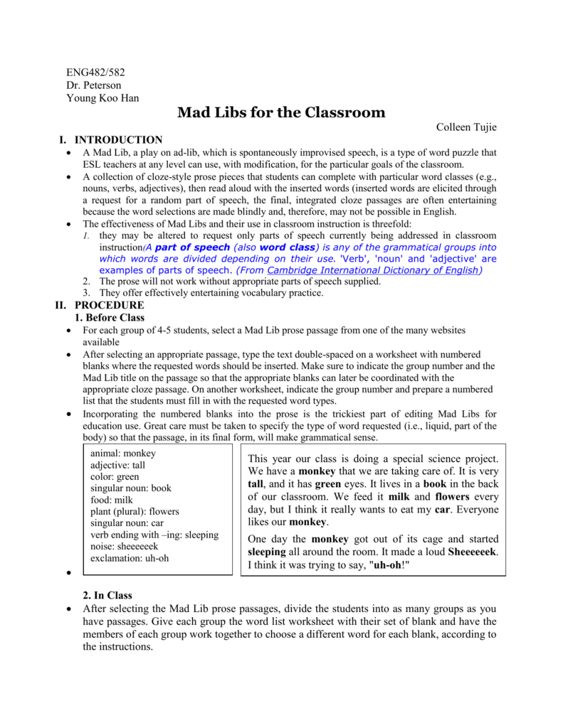 67d3650a9b Mad Libs for the Classroom