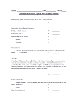 Civil War Historical Figure Flyer Rubric