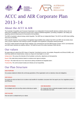 ACCC and AER corporate plan 2013-14