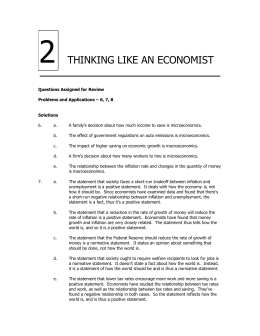 Chapter 2 — THINKING LIKE AN ECONOMIST 1 Questions