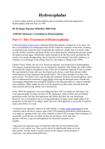 The treatment of hydrocephalus