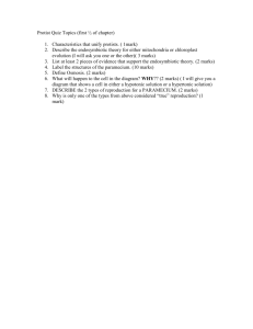 Protist Quiz Topics (first ½ of chapter)