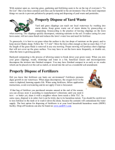 Yard Waste Fertilizer Disposal