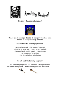 Revolting recipes - Primary Resources