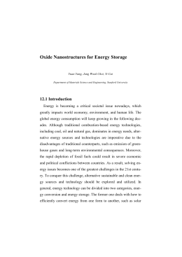 Oxide Nanostructures for Energy Storage