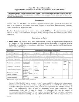 form 424 general information certificate of amendment