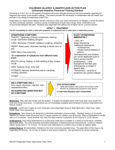 UAP Handout for Anaphylaxis