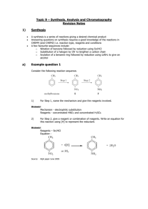 isomerism, synthesis & analysis