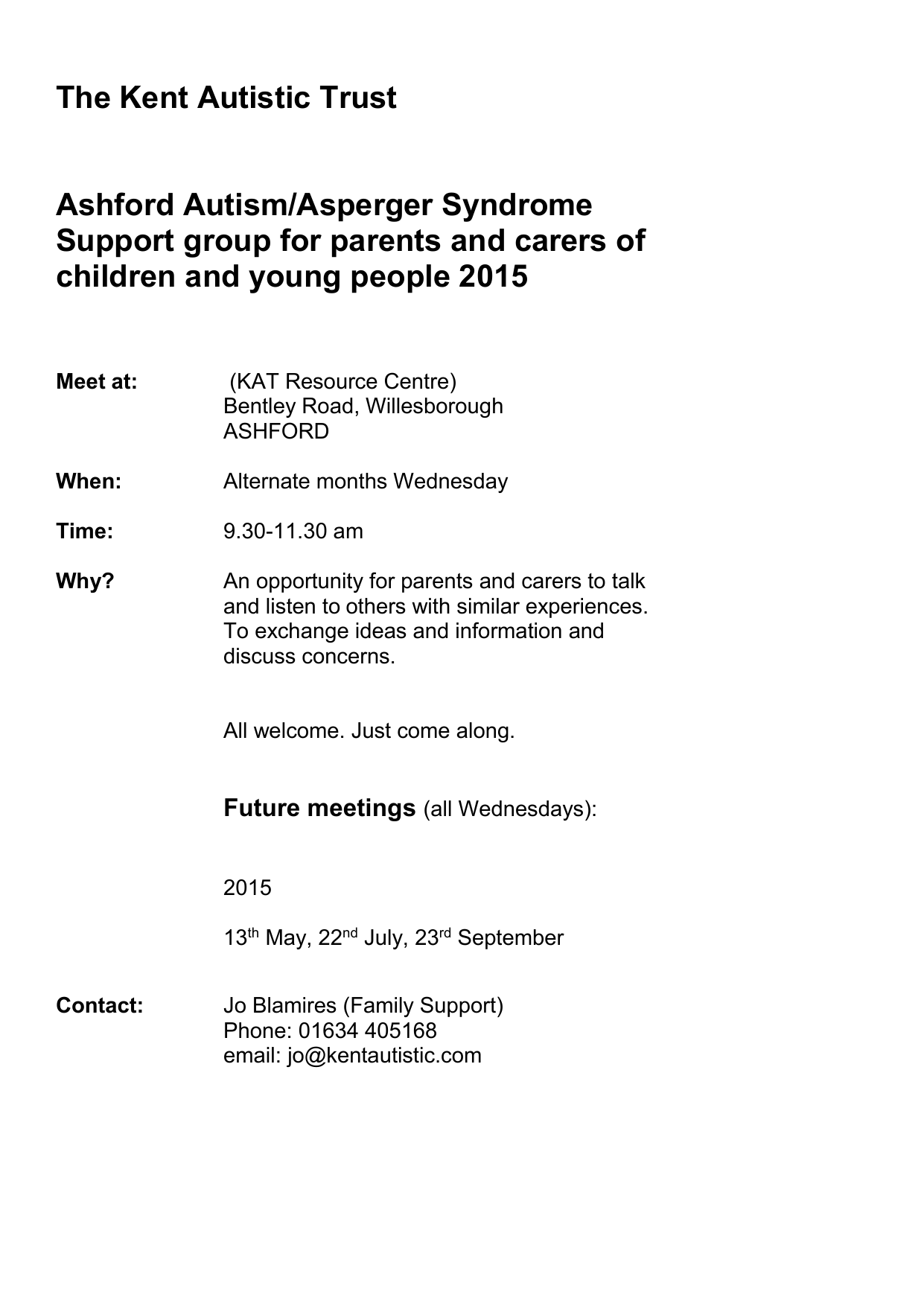 For Parents Of Autistic Kids 22nd >> Ashford Autism Asperger Syndrome Support Group For Parents And