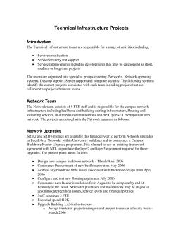 Chapter 2 network infrastructure plan essay