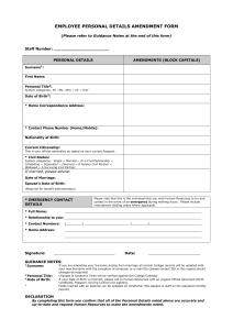 Employee Personal Details form (doc 55 kb).