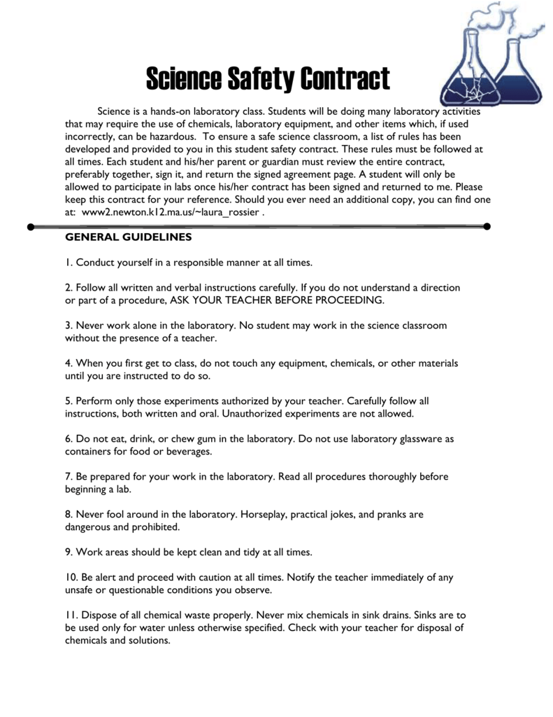 Science Safety Contract1