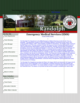 Town of Randolph, MA - Emergency Medical Services (EMS)