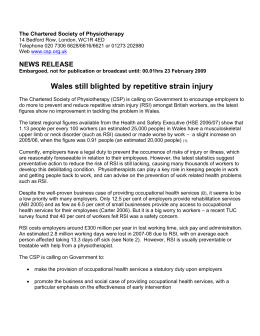 rsi wales1 - The Chartered Society of Physiotherapy