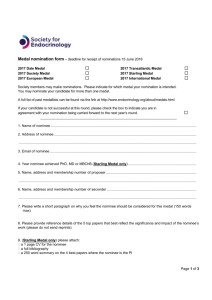 nomination form (MS Word) - Society for Endocrinology