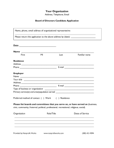 Board of Directors Application