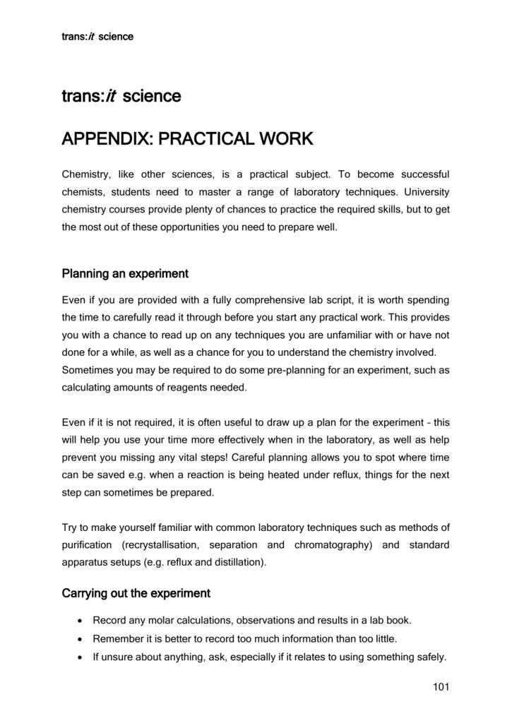 Appendix: Practical Chemistry DOC 173KB