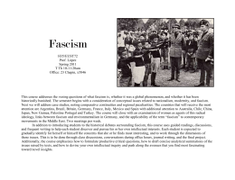 Fascism: A Comparative Research Seminar