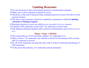 Limiting Reactants & % Yield