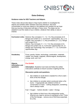 Extra Ordinary Guidance notes for KS3 Teachers and Helpers These